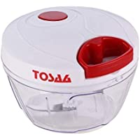 Tosaa Plastic Pull Chopper Vegetable Cutter, 500ml, Multicolour