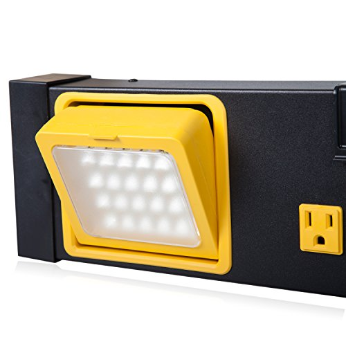 Maxxima 8 Outlet Workshop Heavy Duty Power Station with 2 Port USB and LED Worklight, 1000 Lumens 6000K by Maxxima (Image #4)