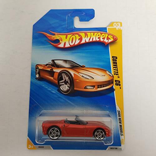 - Corvette C6 Orange Color Hot Wheels 2009 New Models 1/64 scale diecast car no. 003