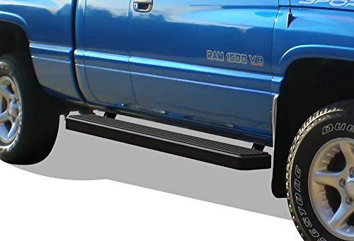 APS iBoard Running Boards (Nerf Bars Side Steps Bar) Compatible with 1994-2001 Dodge Ram 1500 Club Cab & 1994-2002 Ram 2500 3500 (Exclude 02 Body Style Sold in 2001) (Black Powder Coated 6in) (1997 Dodge Ram Pickup 2500 Extended Cab)