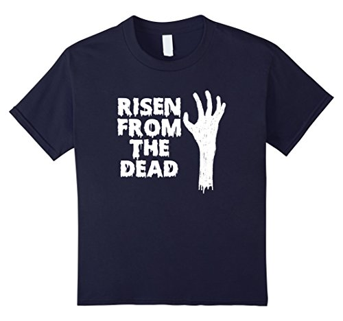 Kids Risen From The Dead | Scary Halloween Zombie T-Shirt 12 Navy