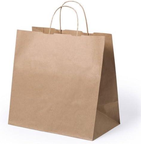 Subito disponibile 50 PEZZI Busta Shopper carta avana 30x29x18 cm 42 grammi