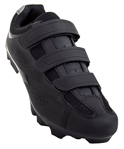 Tommaso Montagna 100 Men's Mountain Bike MTB Spin Cycling Shoe Compatible with SPD Cleats Black - 46