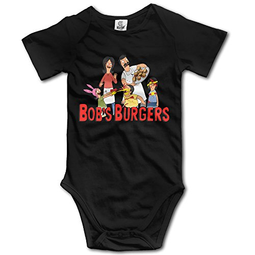 Unisex Baby Bobs Burgers Short Sleeve Outfits Black