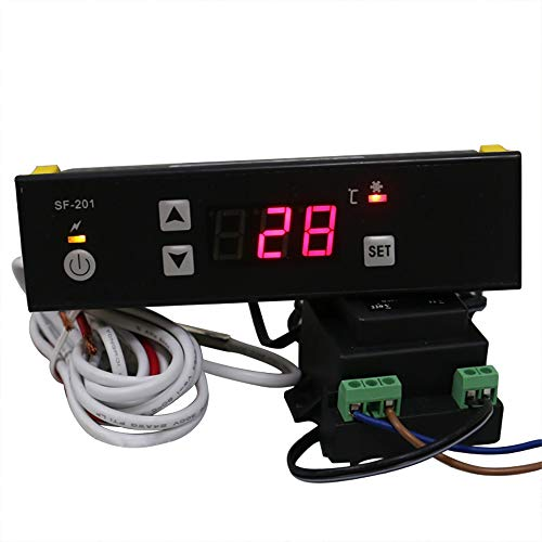 (MXBAOHENG PC-201 Digital Cabinet Temperature Controller Freezer Refrigerator Thermostat SF-201 (110V))