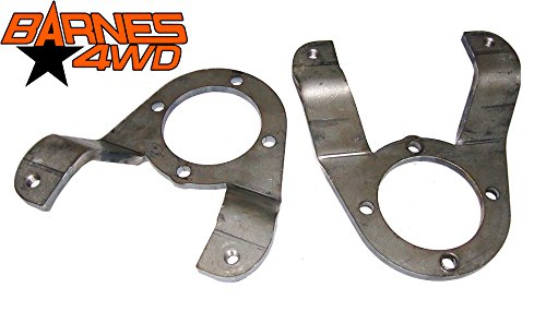 (GM 14 BOLT DISC FULL FLOAT BRAKE CALIPER ADAPTER BRACKET DUAL REAR WHEEL, CAB & CHASSIS PAIR)