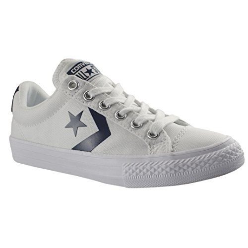 Player Converse Trainers Canvas Youth Star Bianco OOwaEzHq