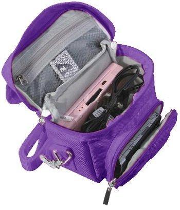 Talkline Sales Purple Travel Bag Carry Case For Nintendo 3Ds, 3Ds Xl, Ds Lite, Dsi