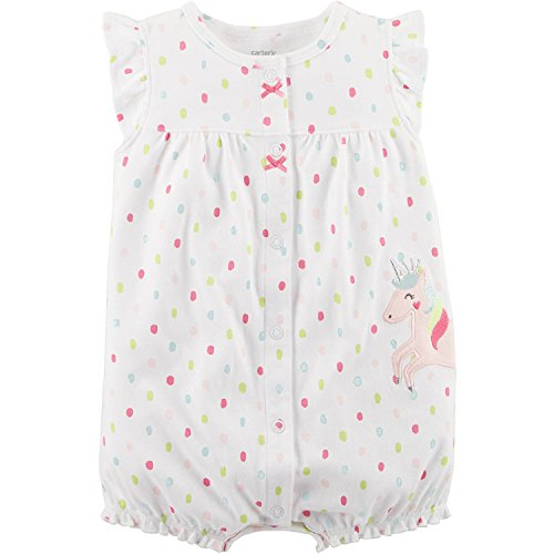 Carter's Baby Girls' Unicorn Snap-up Cotton Romper 24 Months ()