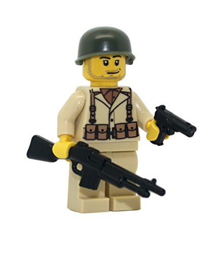 Modern Brick Warfare US Army American WW2 BAR Soldier Support Custom Minifigure