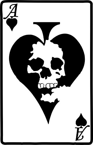 Ace of Spades Playing Cards Skull Wax Seal Stamp