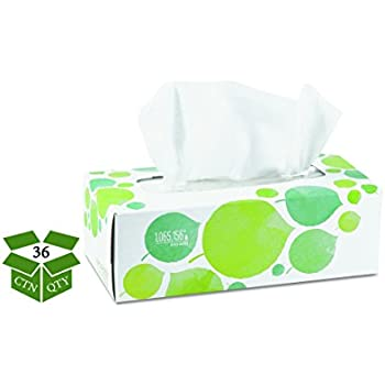 Seventh Generation 13712CT 100% Recycled Facial Tissue, 2-Ply, 175 per Box (Case of 36)