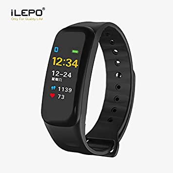 4867cb0f3 Fitness Tracker iLEPO IP67 Waterproof Bluetooth Smart Bracelet with Heart  Rate Monitor Sports Wristband for Pedometers