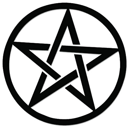 Amazon Pentagram Satanic Satan Sign Symbol Vinyl Decal Sticker