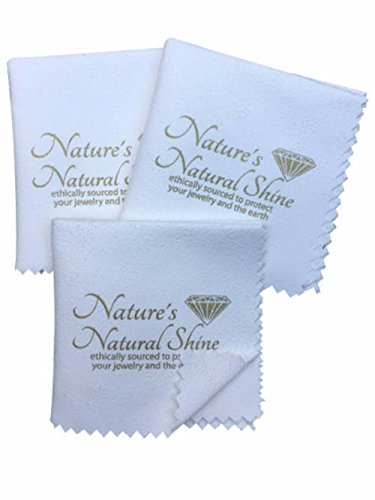 Set of 3 Superior Jewelry Cleaning Cloths perfect to use with Jewelry Cleaner to Polish and Shine your Platinum Gold and Silver Jewelry. 8 x 8