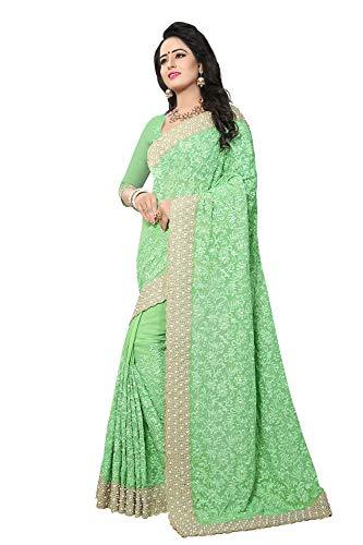 Traditional Facioun Da Wear Women Green Sari Sarees Party For Indian Designer qqgZd8rw