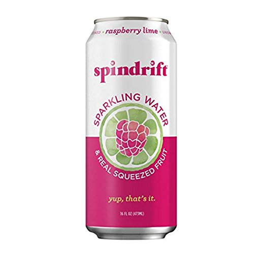 Mixer Raspberry - Spindrift Raspberry Lime Sparkling Water, 16-Fluid-Ounce Cans, Pack of 12
