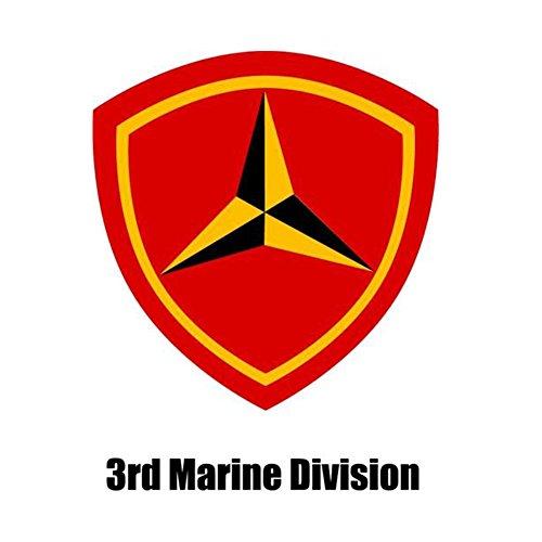 USMC 3rd Marine Division Vet VIETNAM 3 1/2 inch Decal Bumper Sticker