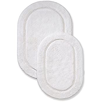 Superior Non Slip Bath Rug 2 Pack  Ultra Plush  Soft  and. Amazon com  Revere Mills 4 Pack Cotton 17 by 24 Inch Oval