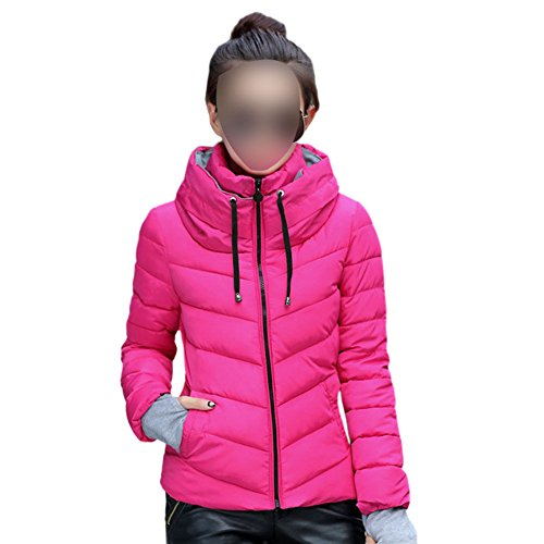 Fuyingda Mujeres Casual Packable Ligero Collar del Soporte Down Chaquetas Puffer Coats Outwear