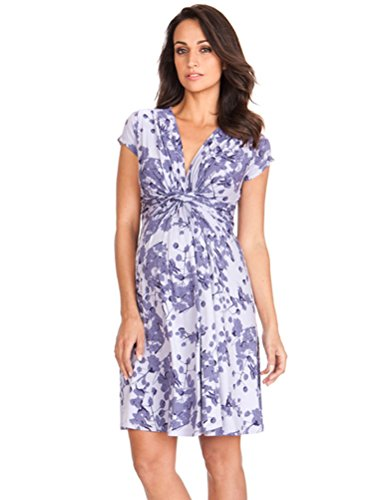 Seraphine Maternity Women's Short Sleve Knot Front Dress - Kate Maternity Middleton