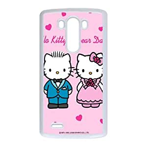 LG G3 Cell Phone Case White Hello Kitty Y4K5H