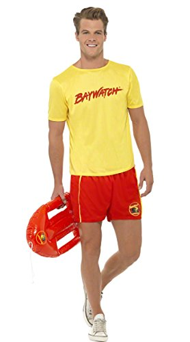 Baywatch Beach Costume, Yellow, Medium