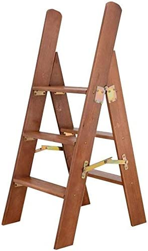 Taburete Escalera Madera Maciza Escalera del Taburete multifunción peldaño Plegable Taburete con 3 Pasos en Casa y Cocina (Color : A): Amazon.es: Hogar