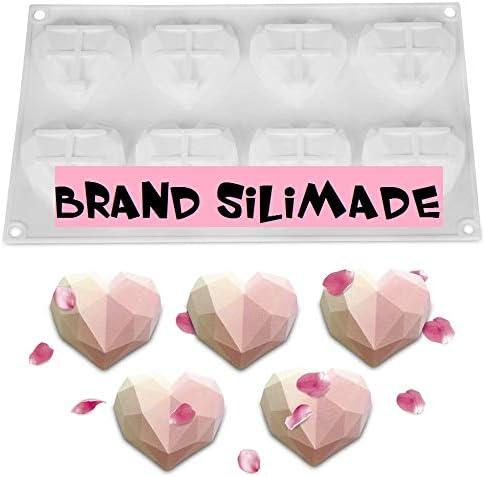 3D Diamante Coraz/ón Forma Moldes Moldes de n/úmeros de letras YIVIN Moldes de coraz/ón para chocolate Molde de Silicona para pastel Juego de Herramienta hornear de bricolaje para gelatina de pastel