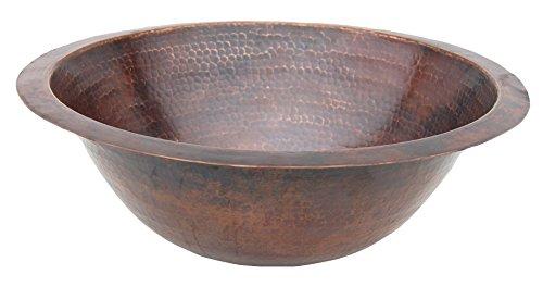Eden Bath EB_C001AD Copper Drop-in or Undermount Sink Bowl, Antique Dark