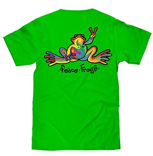 peace-frogs-retro-frog-short-sleeve-licensed-t-shirt-lime-large