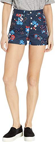 - Juicy Couture Women's Hayworth Floral Embellished Denim Shorts Regal Hayworth Floral 28 2
