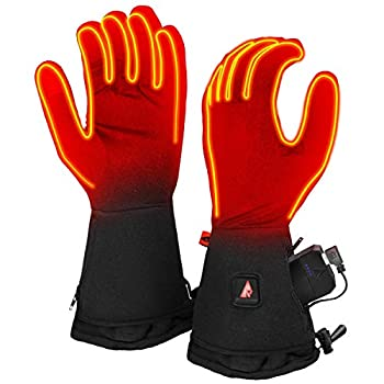Image of ActionHeat 5V Heated Glove Liners for Women, Battery Heated Gloves w/ 3-Heat Settings, Extended Gauntlet, Touch-Control, Rechargeable Heat Liner Gloves Electronics