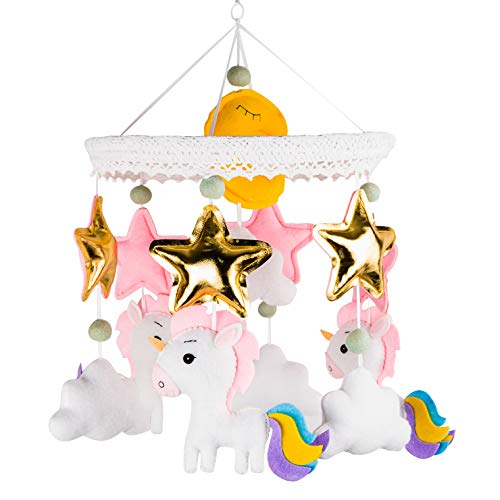 Baby Mobile Nursery Crib Mobile for Girl (Unicorn) from ARTISTRO