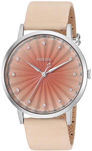 (Fossil Women's ES4213 Vintage Muse Three-Hand Vanilla Leather Watch)
