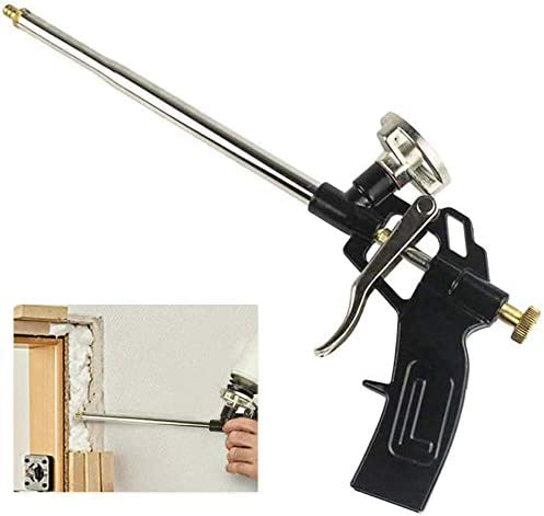 rellenar profesional para pistola de espuma de poliuretano y aplicador de pistola de espuma resistente para calafatear Pistola de espuma negra sellar.