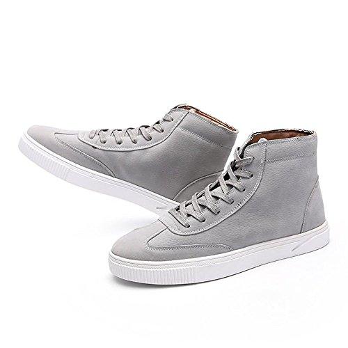 Otoño los Deporte Gris de Cordones sólido Hombres Verano Plano de de Moda de tacón 2018 Zapato con de Color Zapatos ggqrP