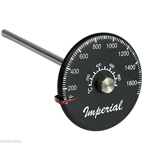 Imperial Flue-Gas Stove Pipe Probe Thermometer 1,700f w/ Magnetic Mount KK0166