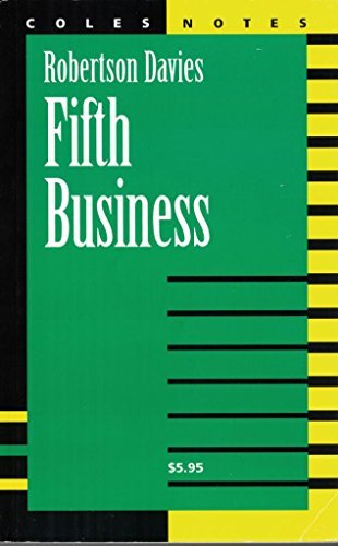 Robertson Davies Fifth Business Coles Notes