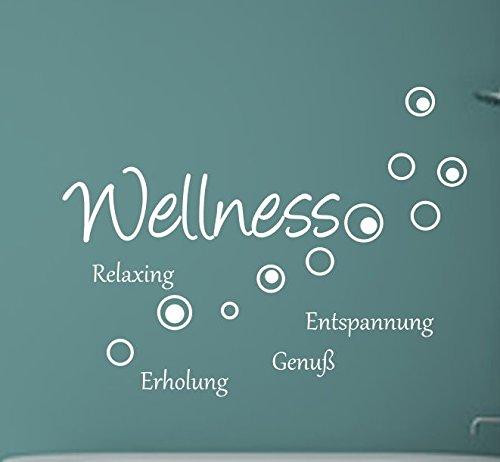 Wellness schriftzug  Wantattoo Wandaufkleber Wellness...Schriftzug in drei Größen und ...