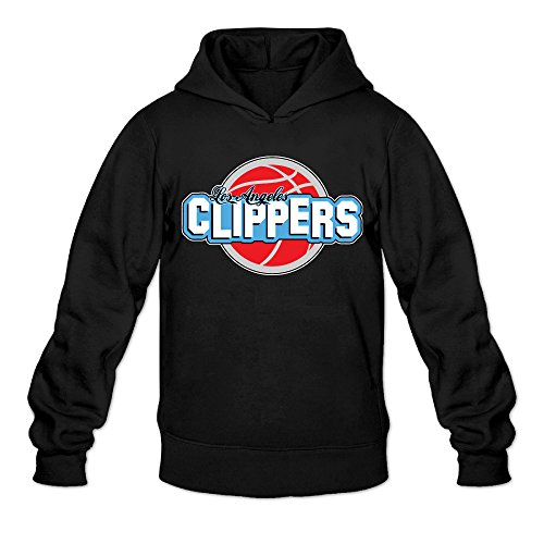 Show Time Men's LA Logo Clippers Geek Sweatshirt Black -