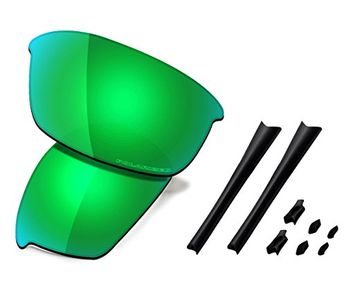 763d3364bc3fa Saucer Premium Replacement Lenses   Rubber Kits for Oakley Flak Jacket  Sunglasses High Defense - Jade