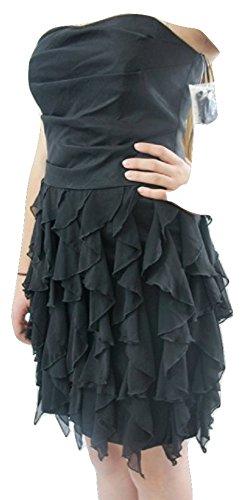 Sixth SenceDamen Kleid, Einfarbig Schwarz Schwarz