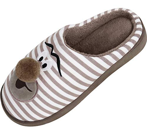 Shoes for on Slippers Fleece amp; Indoor Women's Foam Memory Clog House Outdoor Coffee Lining Coral Use Slip Plush Comfort wOzq1nSz7