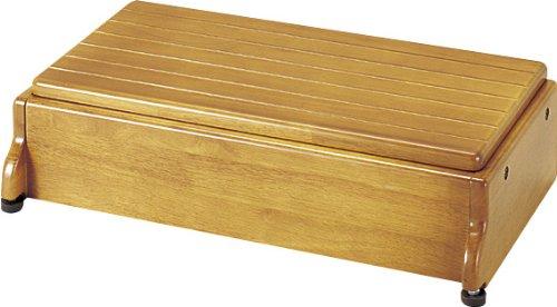 アロン化成 安寿 木製玄関台 S60W-30-1段 ライトブラウン B0010KE3IY  ライトブラウン 幅:60cm