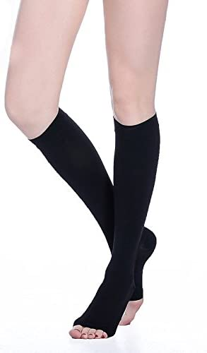 Travel Compression Socks for Men /& Women Shin. - Best Recovery Performance Stockings for Running 20-30mmHg cNude-S Varicose Veins Medical