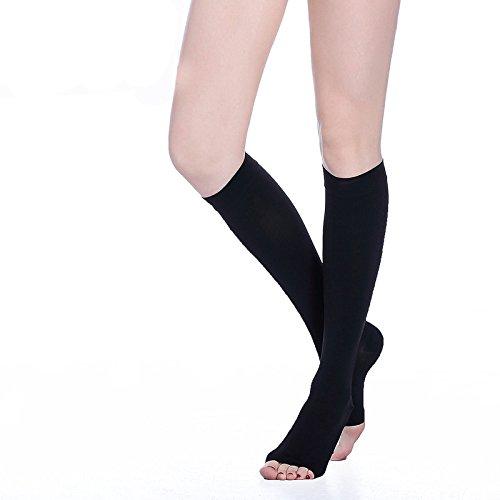 Knee High Compression Socks for Men & Women. Edema, Varicose Veins, Travel, Pregnancy, Medical Nursing (20-30mmHg) Best Compression - Arch Monumental
