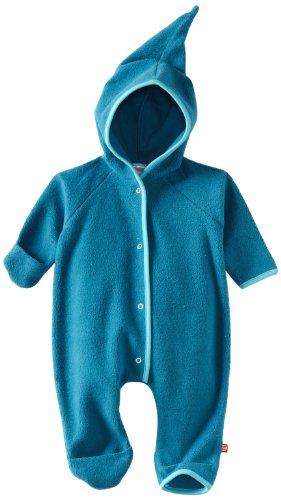 (Zutano Unisex-Baby Newborn Cozie Elf Romper, Pagoda, 3 Months)