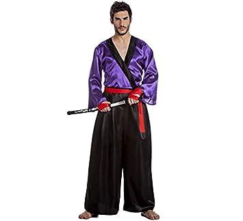 Disfraz de Samurai Lila Talla XL
