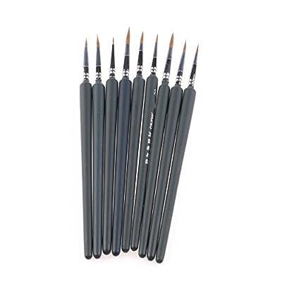 XUAN'S SHOP 9Pcs Brush Pen For Sketched Outline Lines Gouache Watercolor Paint Oil Painting